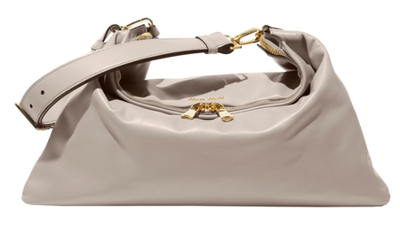 Miu Miu's new cloud bag - new designer handbag - stone handbag for summer  - handbag news - shopping bag - handbag.com