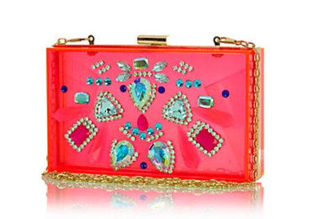 River Island perspex clutch - best wedding clutch bags - shopping bag -handbag