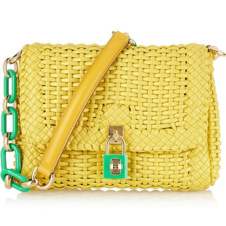 Dolce & Gabbana woven shoulder bag - SS14 collection - designer handbags - handbag trends - handbags for summer - shopping bag - feature - handbag.com