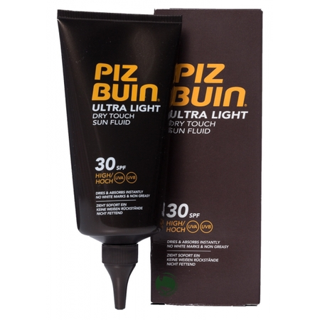 piz buin-ultra light dry touch sin fluid-sun cream-not sticky or greasy-factor 30-holiday essentials-handbag.com