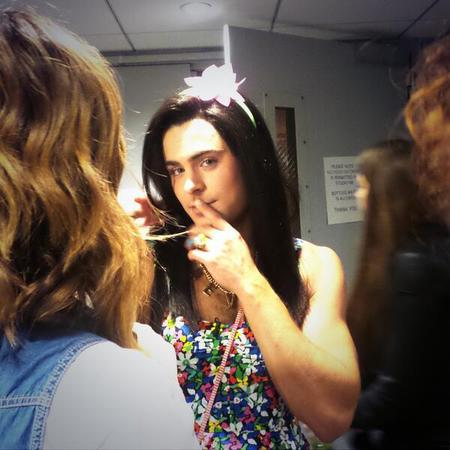 Zac Efron in drag as a girl on Jimmy Fallon - mocks james franco - seth rogan - handbag.com