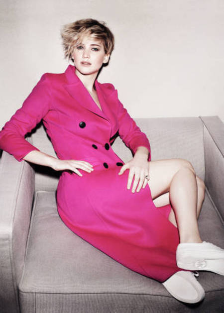jennifer lawrence -  marie claire magazine interview - kristen stewart  - no jealousy rumours - celebrity news - day bag - handbag.com