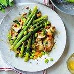 Artichokes & asparagus 'granada' style recipe
