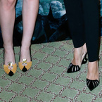 Angelina Jolie matches her shoes to her film
