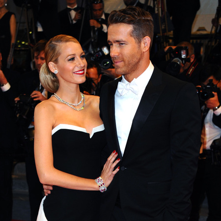 Blake Lively and Ryan Reynolds at Cannes film festival - black and white chanel dress - handbag.com
