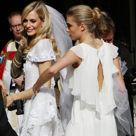 Cara Delevingne as a bridesmaid