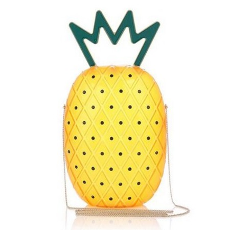 charlotte olympia pineapple handbag - best tropical bags - shopping bag - handbag