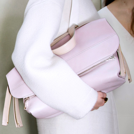 Chloe-dilan bag-fold over tote bag-slouchy-pink-pastel colour trend-autumn winter 2014-designer handbag-handbag