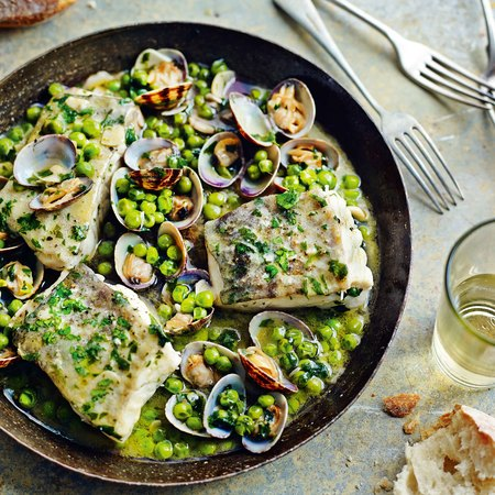 Cod with Peas and Parsley recipe - tapas recipe book recipe book - day bag - handbag.com