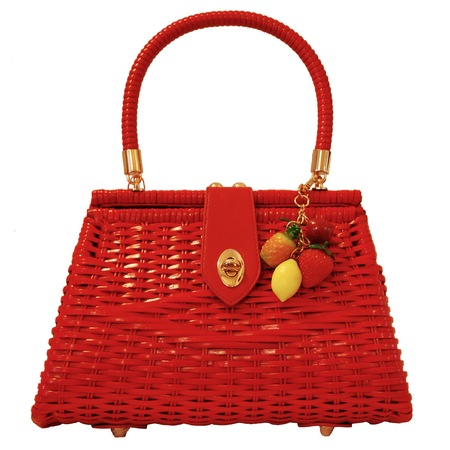 deadlyisthefemale wicker bag with exotic fruit - best tropical bags - shopping bag - handbag
