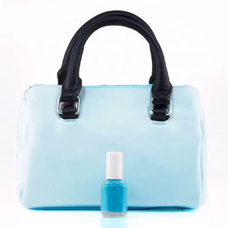 essie nail polish-neon collection-pastel-blue-turquoise-match manicure to your handbag trend-handbag.com