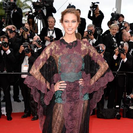 karlie kloss in valentino dress  - cannes 2014 dresses - shopping bag - handbag
