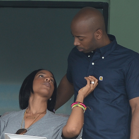 Kelly Rowland and Tim Witherspoon - secretly married - husband - Sony open tennis - romantic picture - handbag.com