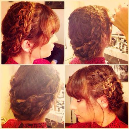 Lea Michelle's milkmaid braid