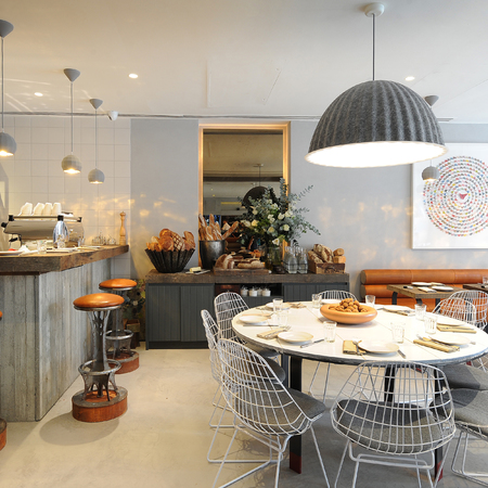 london hotel review - myhotel bloomsbury gails kitchen - travel bag - handbag
