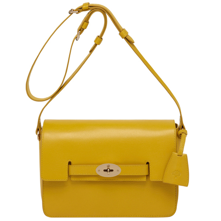 mulberry-golden yellow-bayswater shoulder bag-mustard-colourful bag-designer handbag-summer 2014-handbag.com