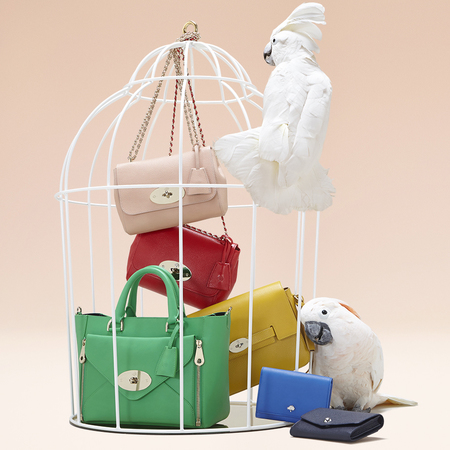 mulberry-new handbags-summer 2014-rainbow colours-birds-exclusive to handbag.com