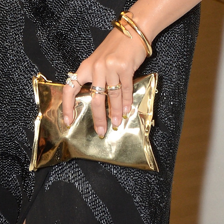 Rita Ora's Anya Hindmarch crisp packet clutch bag