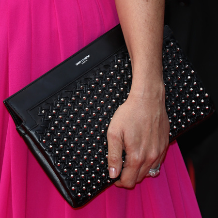 Salma Hayek's Saint Laurent clutch bag