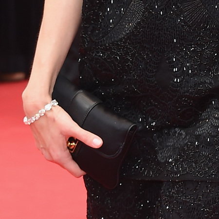 Sofia Coppola's black clutch bag