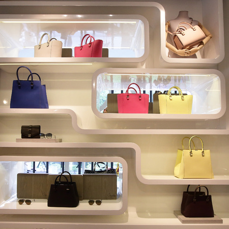 Victoria Beckham - handbag collection - on pedder - singapore - group pink white yellow - handbag.com