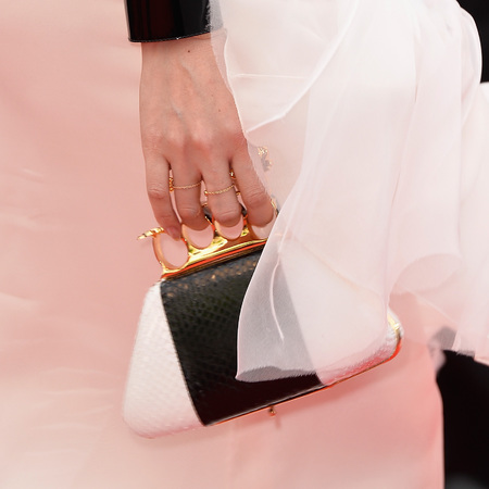 Ziyi Zhang's knuckle duster clutch bag