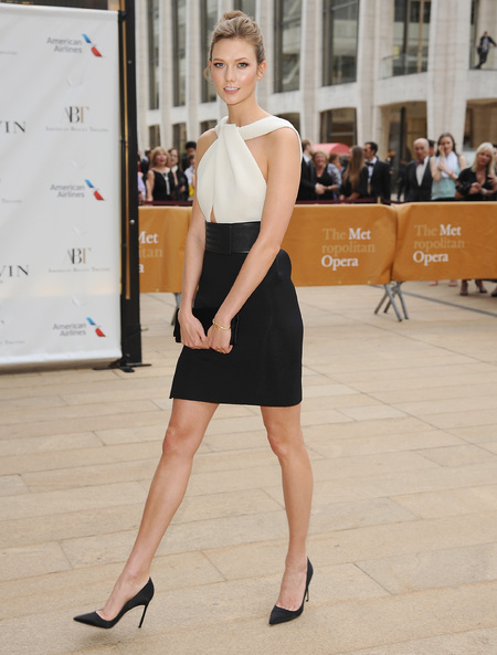 Karlie Kloss - america ballet gala - monochrome dress - handbag.com
