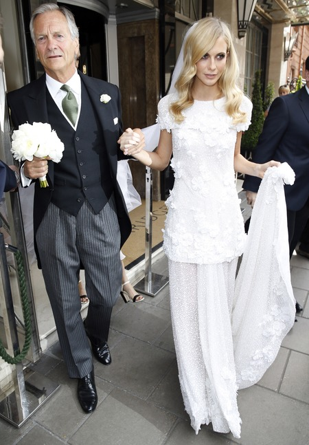 Poppy delevingne wears white chanel dress to be sister Poppy delevingne's bridesmaid - celebrity wedding news - celebrity bridesmaids - wedding news - chanel dress - shopping bag - handbag.com