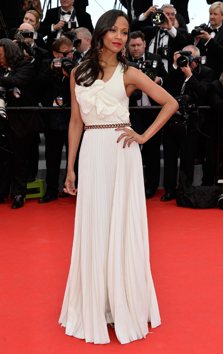 Zoe Saldana at Cannes 2014