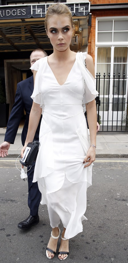 Cara Delevingne's Chanel bridesmaid dress