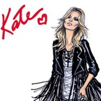 Kate Moss Rimmel collection. In drawing.