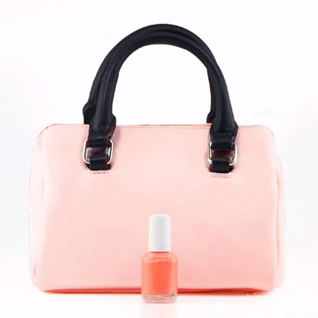 essie nail polish-neon collection-pink-coral-orange-match manicure to your handbag trend-handbag.com