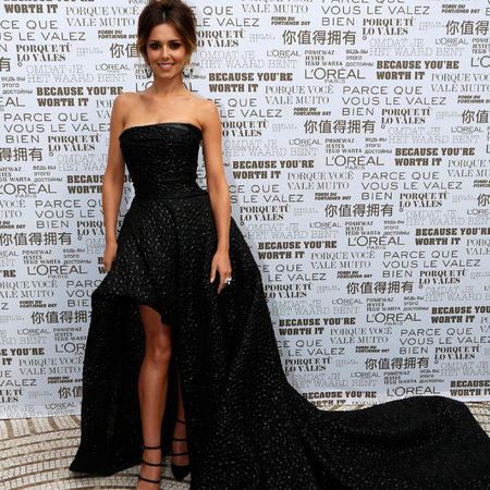 Cheryl Cole in black Monique L'huillier dress