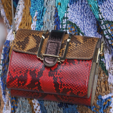 chloe-bronte mini bag-red and brown python-spring summer 2014 handbag collection-handbag.com