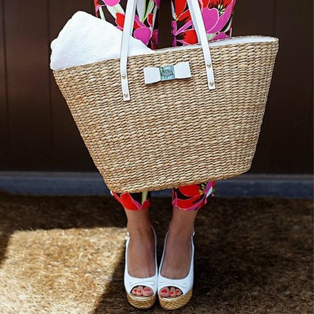 kate spade-straw basket handbag-summer holiday bags-handbag.com