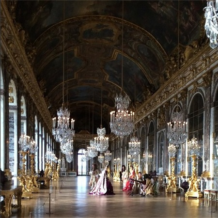Kim and Kanye's wedding party at Versailles Palace
