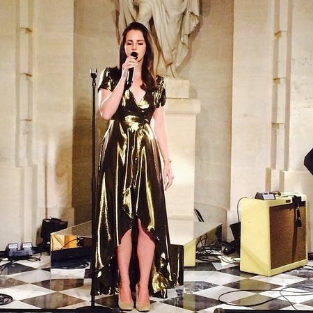 Lana Del Rey performs at the Kimye wedding party