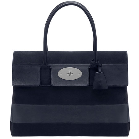 mulberry-navy blue stripe handbag-bayswater shoulder bag-summer 2014 colour trends-handbag.com