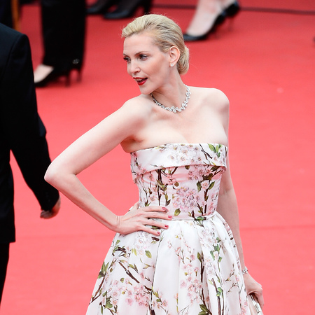 Nadja Auermann wearing Dolce and Gabbana at Cannes 2014 - red carpet dresses at Cannes 2014- Dolce & Gabbana dresses - celeb fashion news - handbag.com