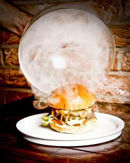 london restaurant review - meat and shake tooting - interior shot -evening bag - handbag