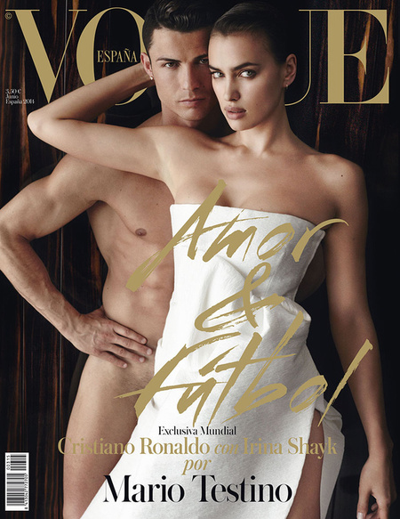 irina-shayk-cristiano-ronaldo-spanish vogue-cover-june 2014-naked-pubic hair-football world cup-handbag.com