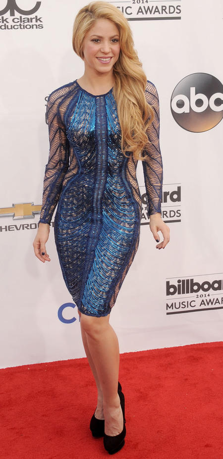 shakira Billboard music awards red carpet - Julien McDonald dress - celebrity fashion trends - celeb fashion news-  shopping bag - handbag.com