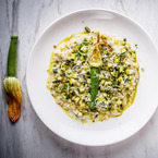 Oozing courgette risotto recipe