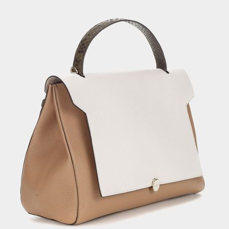 bathurst-satchel-nude- anya hindmarch pre autumn 2014 collection - shopping bag - handbag