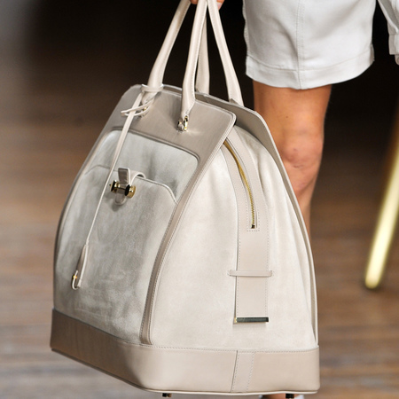 Cream Daphne suede travel bag