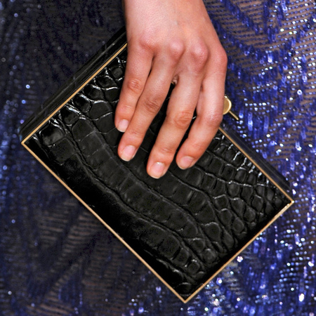 Black Karlie clutch bag