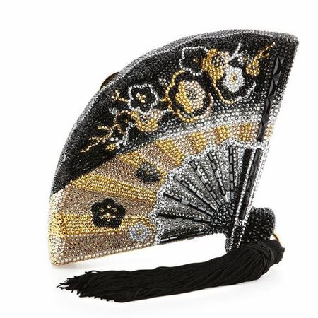 Judith Leiber Couture Fluttering Crystal Fan Minaudiere - best handbags for met ball gala 2015 - shopping bag - handbag