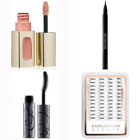 kim kardashian-wedding makeup-products used-loreal lip colour-urban devay mascara and eye liner-false eyelashes-handbag.com