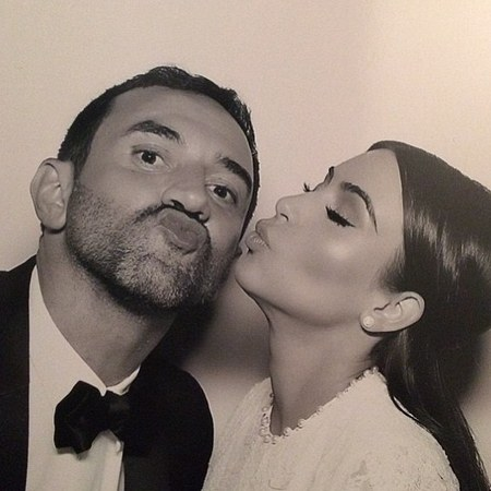 Kim and Ricardo Tisci in the photobooth
