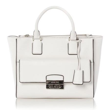 michael kors tote - best white handbags - shopping bag - handbag